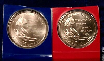 2009 P+D US Virgin Islands State Quarters US Territories Satin Mint Package