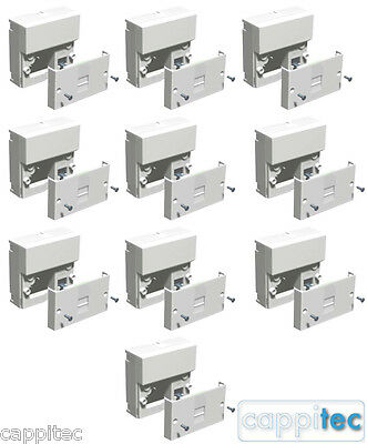 TRADE PACK OF 10x BT OPENREACH TYPE MASTER TELEPHONE SOCKETS NTE5A + BACK BOXES