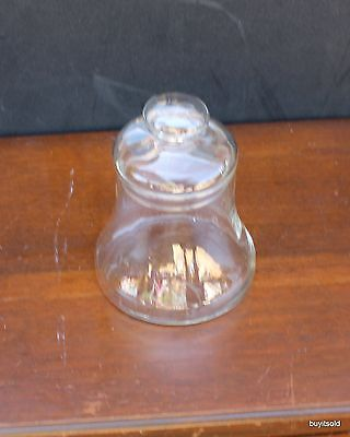 Bell Shaped Clear Glass Storage Jar with Lid Candy Cookies Decorations
