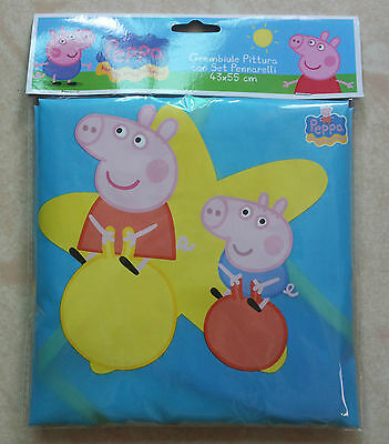 Kid Apron Art Paint with 3pockets Smock Peppa Pig Water Resist cute Bib