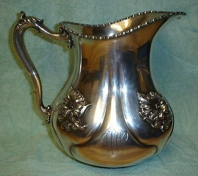 Beautiful Art Nouveau Silverplate Pitcher c. 1904
