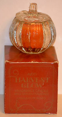 "RARE Vintage Collectible AVON HARVEST GLOW  Fragrance Candle,  H: 1 1/4"", 1982"
