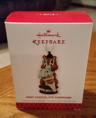 2013 Hallmark Christmas Ornament - Mint Chocolate Chipmunk