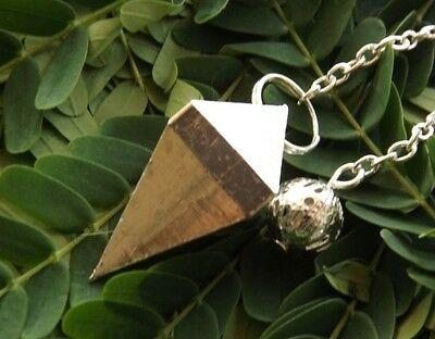 Silver Plated Double Terminated 4 Faceted Healing Dowsing Pendulum