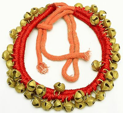 Vintage Style Brass Sleigh Bells Anklet Belly Dance Gypsy Boho Door Wall Hanging