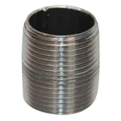"3/4"" NPT Threaded Black Close Pipe Nipple, 5P667"