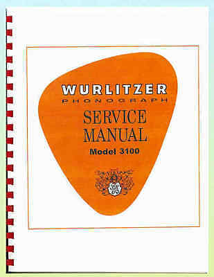 Wurlitzer 3100 Americana Jukebox Manual