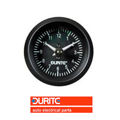 Durite 12/24V 52mm Illuminated Car/Marine/Van Dashboard Quartz Clock - 0-523-03