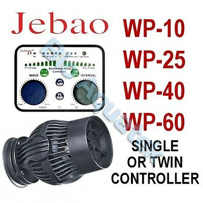 Jebao WP Aquarium Wave Maker Powerhead - Wireless Single Twin Controller or Pump