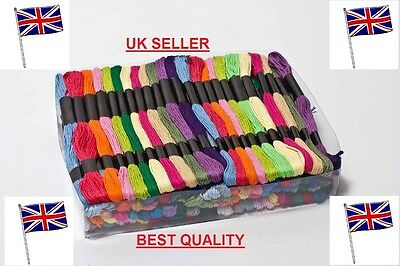1-200 Mix Coloured Cross Stitch Cotton Sewing Skeins Embroidery Thread Floss