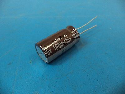 Nichicon H0501 35V 1000uF 105c Low Impedance Electrolytic Capacitors lot of 52