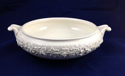 Wedgwood cream on cream shell edge queensware Base for Round Covered Vegetable