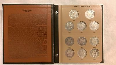 1878-1921 Dansco Morgan Dollar Date Set Mostly Complete 23 Coins New Album