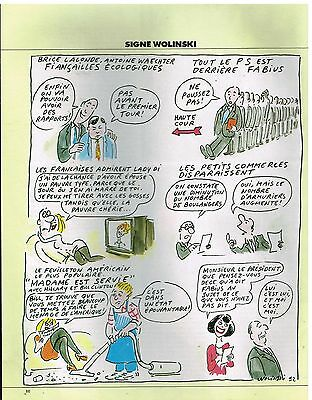 Publicité Advertising 1992 Dessin Signe Wolinski Collectibles Other Breweriana