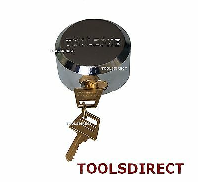 73mm Round Concealed Padlock Shutter Gate Door Van Replacement Lock Heavy Duty