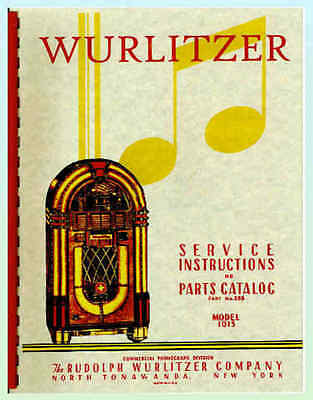 Wurlitzer 1015 Service & Parts Manual