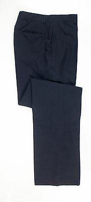 NWT Brooks Brothers Navy Blue 100% Wool Dress Pants Trousers Flat Front