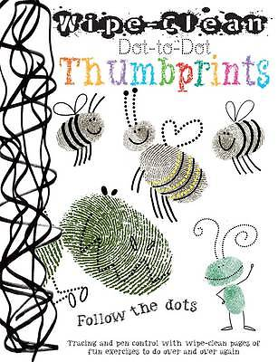 THUMBPRINTS : Wipe Clean Dot-to-dot : WH1-R2E : PBL139 : NEW BOOK