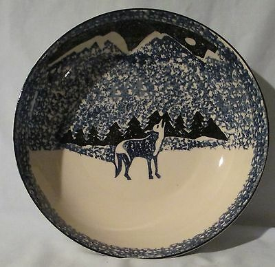 Tienshan Folk Craft Wolf Serving Bowl