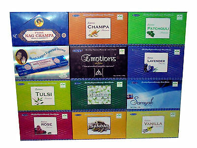 Genuine  Satya  Nag Champa Incense Agarbatti  Sticks Large Variety Top Selling