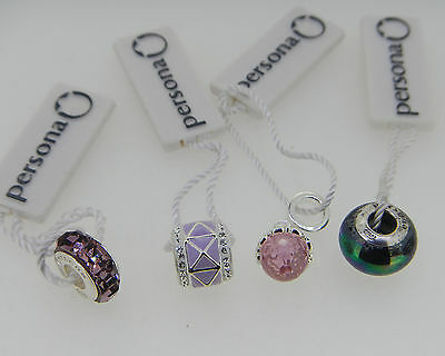 New Persona Lot Of 4 Sterling Silver Charms With Tags  Retail Is $175