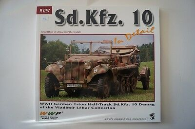 WW2 German Sd.Kfz. 10 In Detail 1 Ton Half Track Model Reference Book