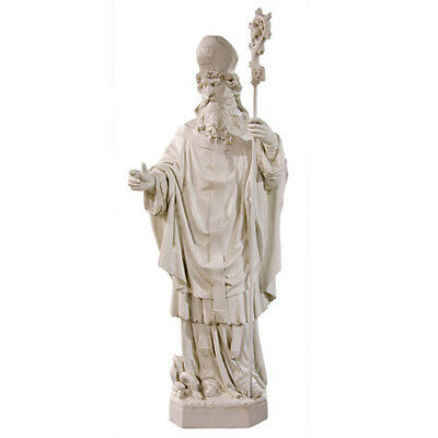 "+ Statue of St. Patrick + 72"" tall + Antique Marble Color + SHIPPING AVAILABLE +"