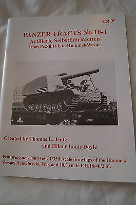 WW2 German Hummel Wespe Artillery Panzer Tracts 10-1 Reference Book