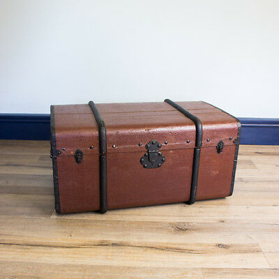 Vintage Shipping Trunk - Chest Toy Box Antique Industrial Retro