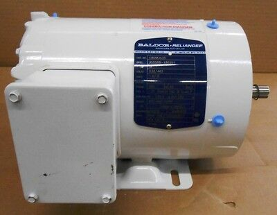 "Baldor Reliance Washdown Motor, Cwdm3538, 1/2 Hp, 1725 Rpm, 230/460V, 5/8"" Shaft"