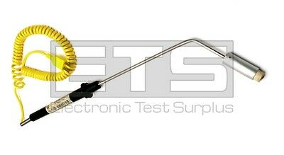 Cole-Parmer 08516-61 Yellow Type K 45 Angled Flat Surface Thermocouple Probe