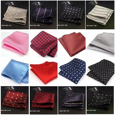 Mens Polka Dot Handkerchief Silk Pocket Square Hanky Multi Party Paisley Hankies