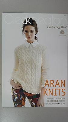 Cleckheaton Pattern Book #3005 Aran Knits - 2 Designs in 10 Ply
