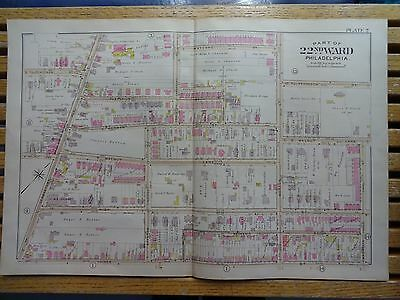 1899 Map of Philadelphia - RARE - 22nd Ward - Germantown Ave to Morton St.