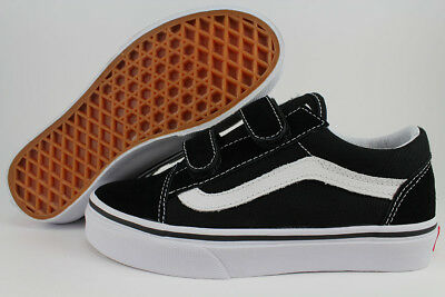 Vans Old Skool V Black/white Strap Canvas Authentic Boys Girls Kids Youth Sizes