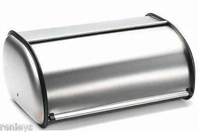 """New! Brushed Stainless Steel Rolltop 2-Loaf Capacity Bread Box, 16.5"""" X 10"""" X 8"""""""