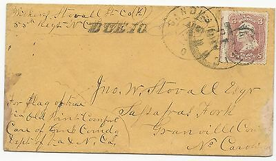CSA POW Cover US Scott #65 North-to-South Target Cancel Sandusky, OH CDS Due 10