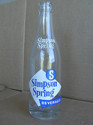 Simpson Spring Bev., 8 oz., 1966, So. Easton, Mass.