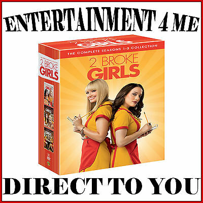 2 Broke Girls - Complete Seasons 1 2 & 3 **brand New Dvd Boxset***