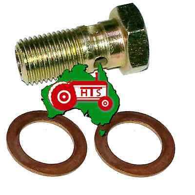 Banjo Bolt 1/2 UNF Standard With Copper Washers Fits CAV Filter Heads