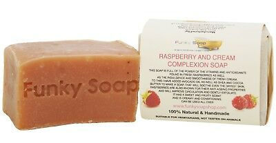 1 piece Raspberry and Cream Complexion Soap, 100% Natural Handmade, 120g