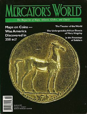 1997 MERCATOR'S WORLD Map Magazine Coins Abraham Ortelius Africa Ordnance Survey