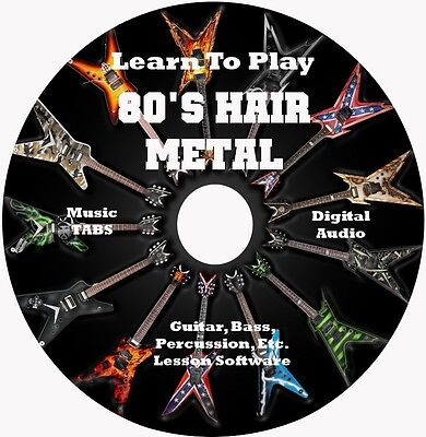 80s Hair Metal Bands Guitar TABS Lesson CD Over 5500+ TABS = 3700+ Songs!