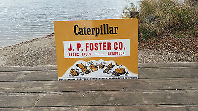 Big Caterpillar J P Foster Co Sign Tractor Farm Gas Oil Diesel Engines Motor