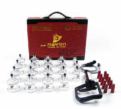 19-Cups Slimming Acupuncture Cupping Vacuum Massage Theraphy Set KOREA Made
