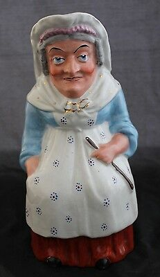 ANTIQUE 19th CenturySTAFFORDSHIRE POTTERY Large Figural TOBY JUGPitcher Woman