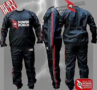 Power Punch Heavy Duty Sweat Suit Sauna Exercise Gym Suit Fitness Weight Loss