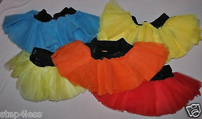 New Adult size Small Medium TuTu Dance Skirt with attached shorts tulle  #808019