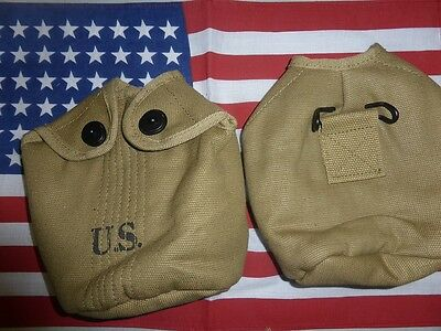 Housse de gourde US Mle 1918 ou 1942 ( canteen cup cover USA GI D-DAY JEEP DODGE