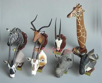 Cake Topper HUNTING TROPHY TAKARA II AFRICAN ANIMALS FIGURE SET 8PC YH_2.Set8